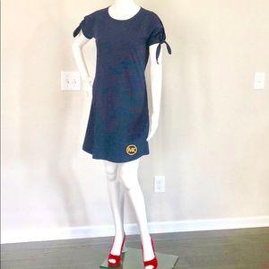 🆕 Michael Kors Basics Tee Dress Navy w/ Gold Logo